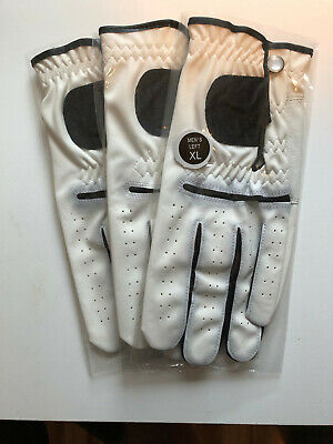 Mens Cabretta Leather Golf Gloves XL-3 Pack of Gloves (Right handed Golfers)
