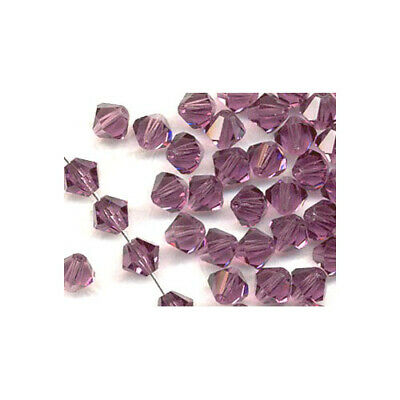 Violet Czech Crystal Glass Faceted Bicone Beads 3mm 100+ Pcs Art Hobby Jewellery
