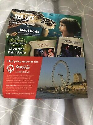 50% Off Half Price London Eye Sea Life Shrek Days Out Attraction Family Fun Kids