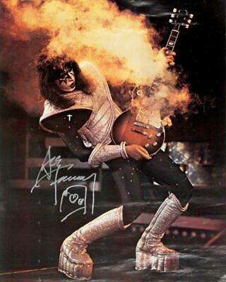 REPRINT - ACE FREHLEY Kiss Guitar Signed 8 x 10 Glossy Photo Poster RP