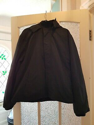 GEORGE Mens Black Fleece Lined Jacket XL - GC