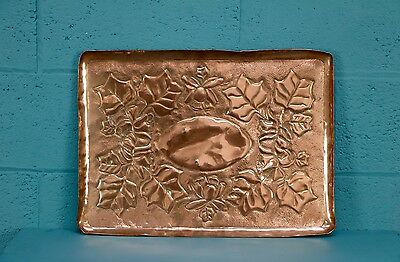 Heavy Arts and Crafts Copper Tray, Cornwall (100459)