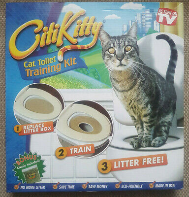 Citikitty Cat Toilet Seat Training System With Instructions