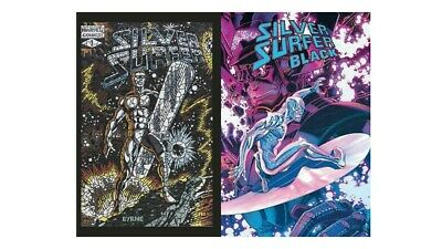 SILVER SURFER BLACK VARIANT 2 PACK Shattered & Bradshaw 1:50 (Limited Copies)