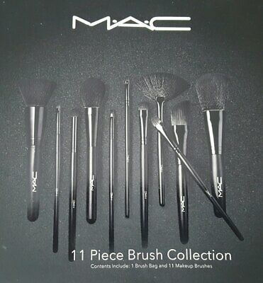Neuf Kit Professionnel Mac 11 Pinceaux Maquillage Makeup brushes M-A-C Kit