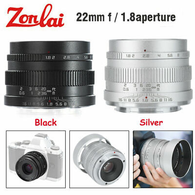 Zonlai 22mm f1.8 Large Aperture APS-C Ultra Wide Angle Lens for Fuji Sony Camera