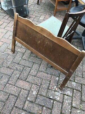 Vintage 70s 80s Wooden Headboard Single Bed Strong Sturdy Ideal For Upcycling