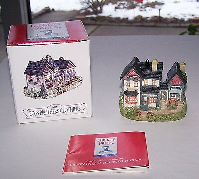 Liberty Falls Ross Brothers Clothiers Figurine  #Ah81 --- Excellent Condition!