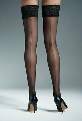 72c5e71a6a515 Hold Ups 20 DEN Self-Supporting Stockings with Silicon Gatta Matilde 1/2 3
