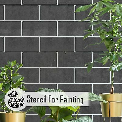 SUBWAY Metro Tile Stencil - Floor Wall Stencil for Painting