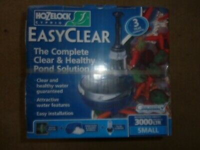 HOZELOCK EASYCLEAR 3000 FISH POND PUMP//FILTER//UVC UNIT ALL IN ONE
