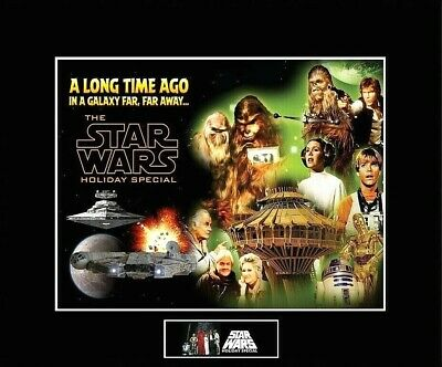 """STAR WARS Holiday Special 8"""" x 10"""" Cast Collage Picture-11"""" x 14"""" Black Matted"""