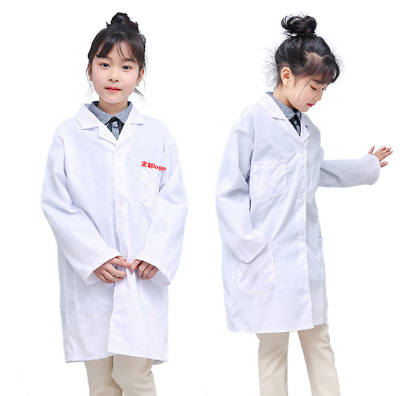dd97c00247d 1x Kid Lab Doctor Scientist Coat School Fancy Dress Costume Children Boy  Girl