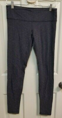 d114fc9d33 Lululemon Wunder Under Knit Pant sz 6 Pique Black low rise waistband pocket