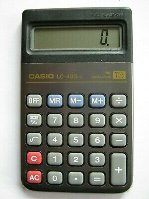 CASIO LC403 Time calculations Calculatrice compacte 10x6