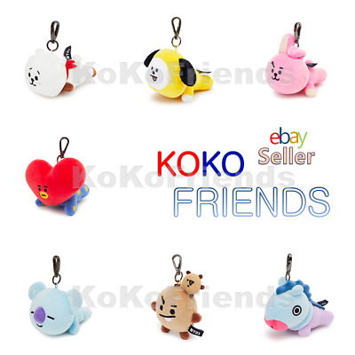 BTS BT21 Plush Lying Doll Bag Charm keyring Official KPOP Goods Authentic MD