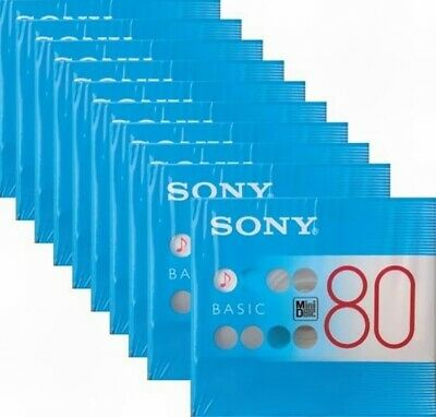 NEW! SONY Blank Mini Disc  BASIC 80min Lot of 10