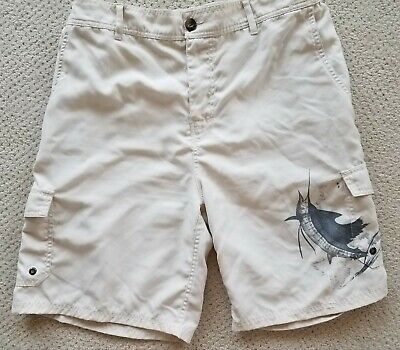 7e99972a7f Mens Board Shorts Size 36 Bathing Suit Guy Harvey Aftco Surfing Fishing  Trunks
