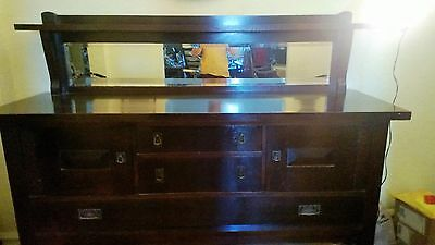 Arts and Crafts Mission Server Sideboard Buffet Quartersawn Oak