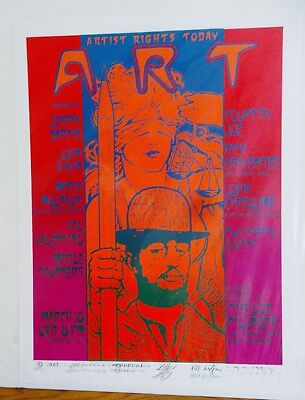"Artists Rights Today Artist Print #51 Serigraph Signed by ""Big Five"" + Postcard"