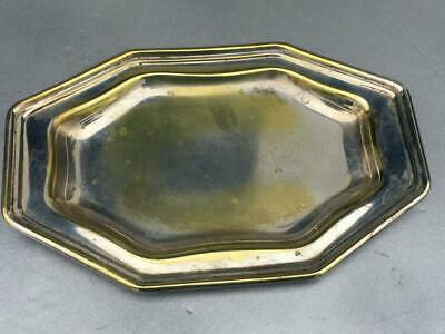 Antique Ornate Silver On Copper Tray~Hallmarked-Good Condition__