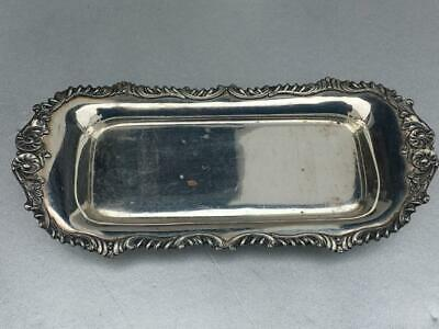 Antique Ornate Silver Plate Tray~-Good Condition__