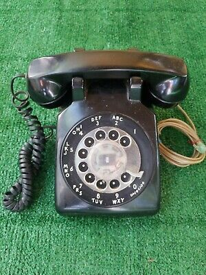 ☎️ Vintage Bell System Rotary Desk Phone Western Electric Black