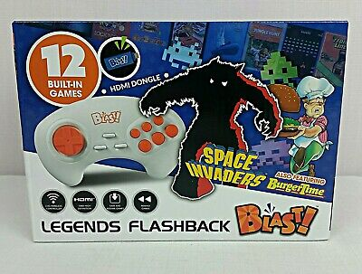 Legends Flashback Blast! Hdmi Dongle 12 Built-In Games Space Invaders New In Box