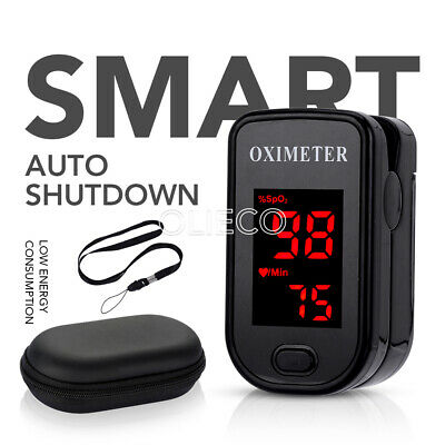 SPO2 Finger tip Pulse Oximeter Blood Oxygen Heart Rate Monitor Pouch& Lanyard CE