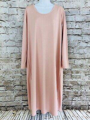 adf1a03ac Lands' End Size XL 18 100% Supima Cotton Dusty Peach Mid Calf Nightgown