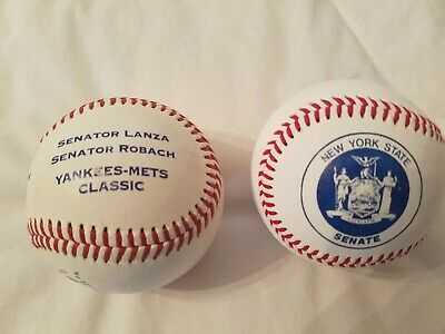 Official Rawlings Yankees-Mets CLASSIC Baseball NY STATE SENATE REPUBLICAN DAY
