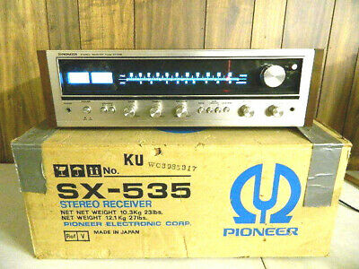 Vintage Pioneer sx-535 Stereo Receiver Unit Silverface Boxed  Powers On