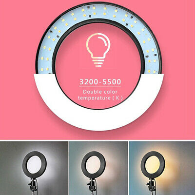 LED Ring Light Dimmable 5500K Photography Camera Photo Studio Phone Video F5Ys