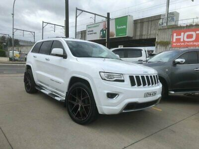 2014 Jeep Grand Cherokee WK Overland White Automatic A Wagon