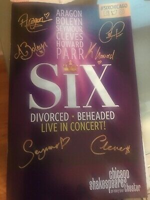 Six The Musical Playbill US World Premiere Chicago Shakespeare Theater
