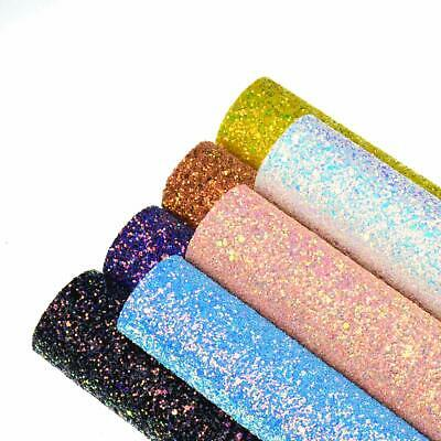 A4 Chunky Glitter Fabric Sheets Sparkly Prefect For Bows & Crafts Art Craft DIY