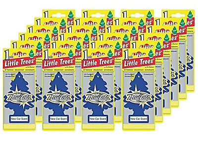 Little-Trees New Car Scent Tree Air Freshener- 24 Pack