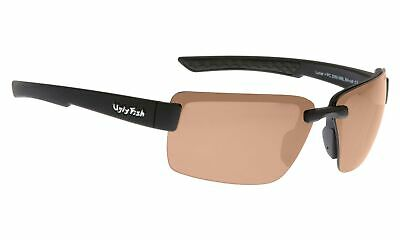 NEW Ugly Fish Polarised Sunglasses Lunar PC3050 Black/Brown