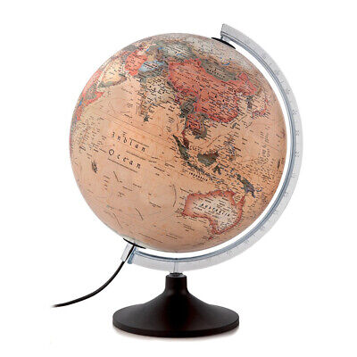 NEW Atmosphere Solid A Antique Illuminated Globe