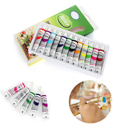 Gift Artist Oil Painting Watercolor paints Set Acrylic Draw Pigment with Brush