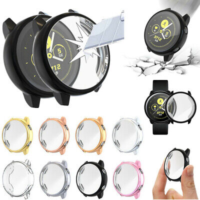 For Samsung Galaxy Active Smart Watch Plating Soft Bumper Protector Case Cover