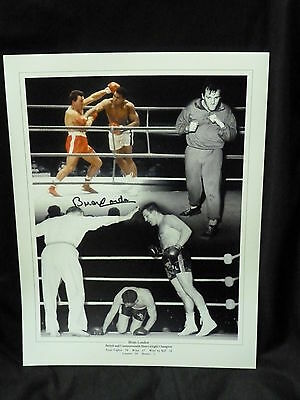 Brian London Signed Large Boxing Photograph