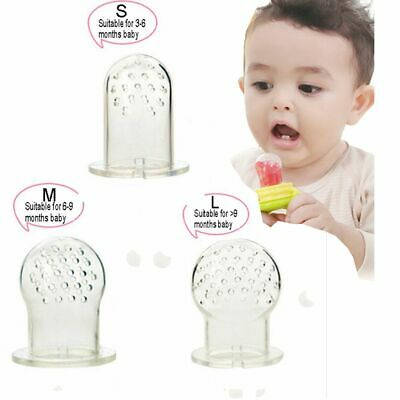 3 Pcs supplies food Safe Silicone Pacifier Feeder Baby Teether Nipple