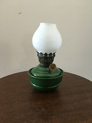 Antique British Make CWB Oil Lamp Nursery Kelly Pixie Lamp