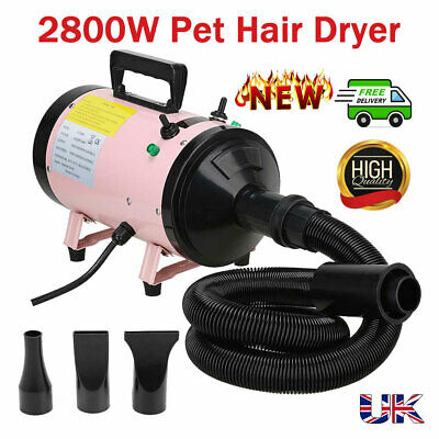 Professional Pet Grooming Blower Dryer Dogs Cats 2800W Powerful Adjustable Speed