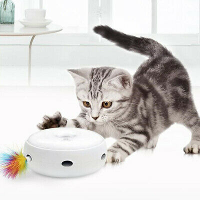 Electric Feather Funny Pet Cat Toy Smart Teaser Interactive Kitten Rotating Toy