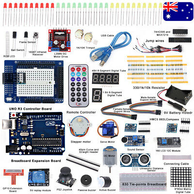 Professional UNO R3 Starter Kit for Arduino LCD Compass Gyro Processing Practice