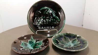 Blue Mountain Pottery Grp of 3 Canadian plates