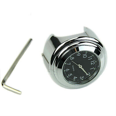 New Motorcycle Modified Handlebar Mount Dial Clock Glow in Dark w/ Hex Wrench