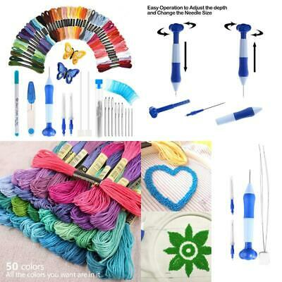 Latest Model Magic Embroidery Pen SetEmbroidery Pen Punch Needle Kit Craft Tool